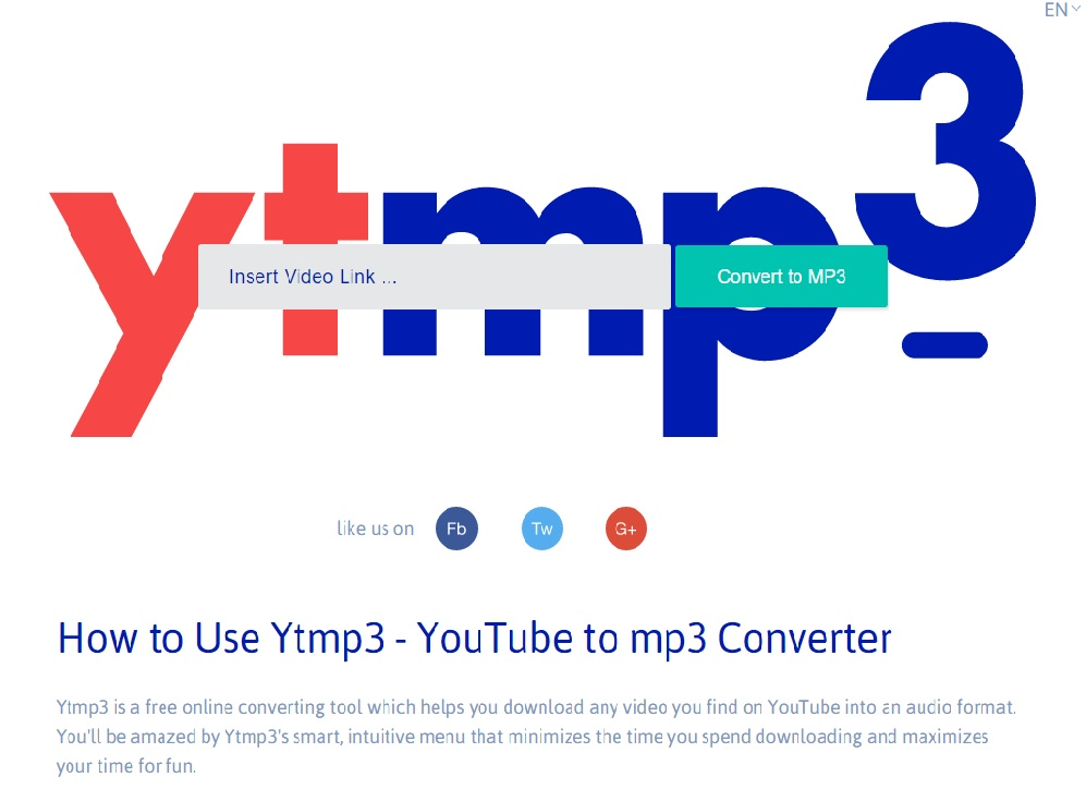 Ytmp3 Youtube mp3 converter
