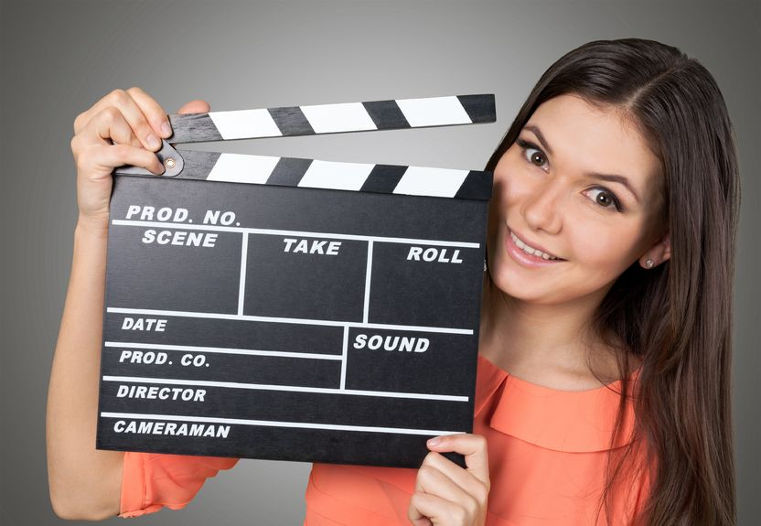 girl making video, movie